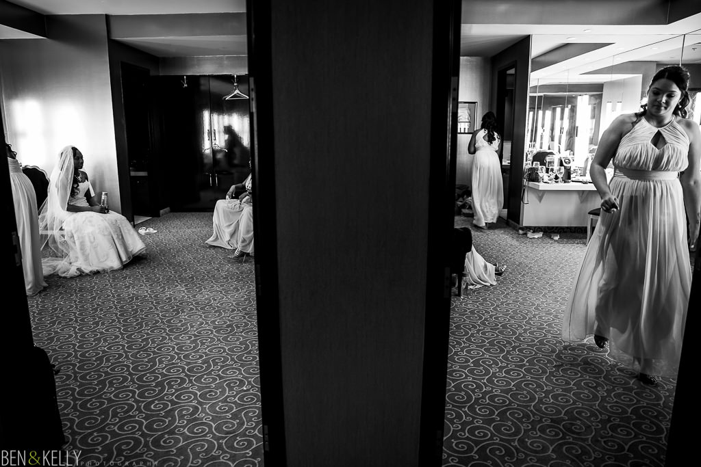 pre ceremony at Chateau Luxe - Ben and Kelly Photography