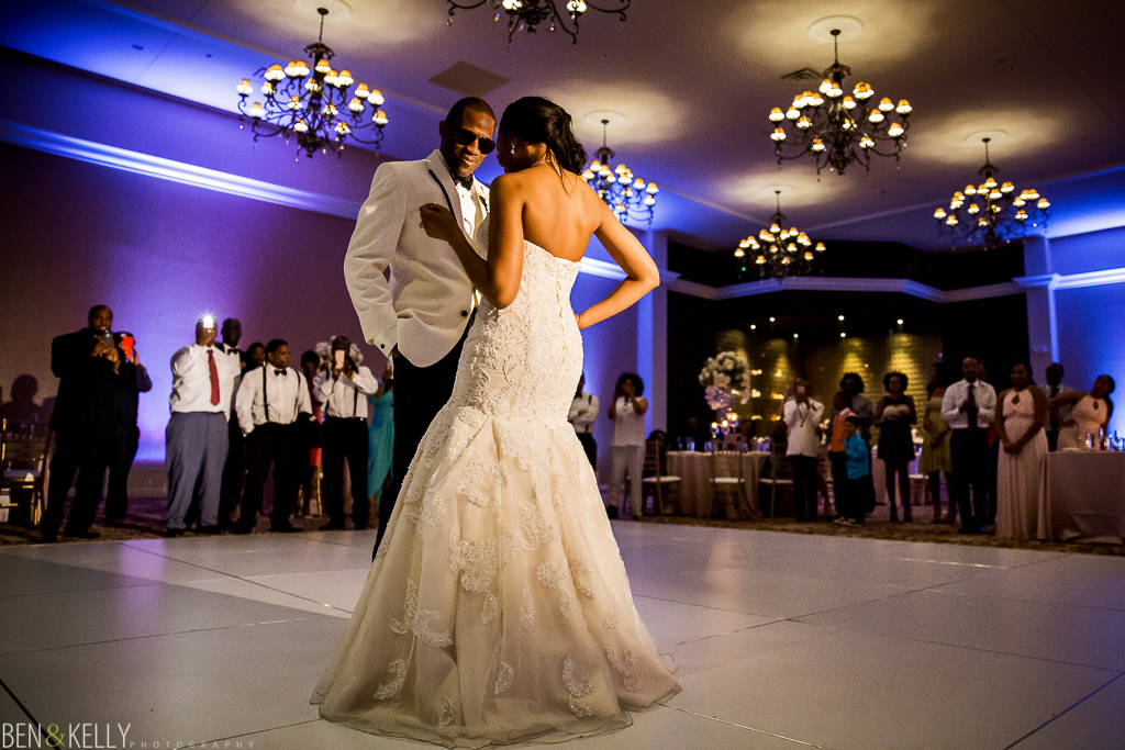 first dance at wedding Chateau Luxe - Ben and Kelly Photography