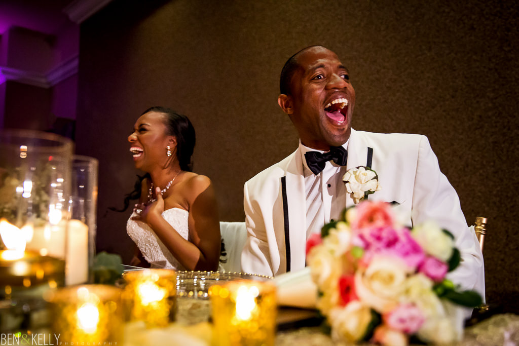 Funny wedding toast at Chateau Luxe - Ben and Kelly Photography