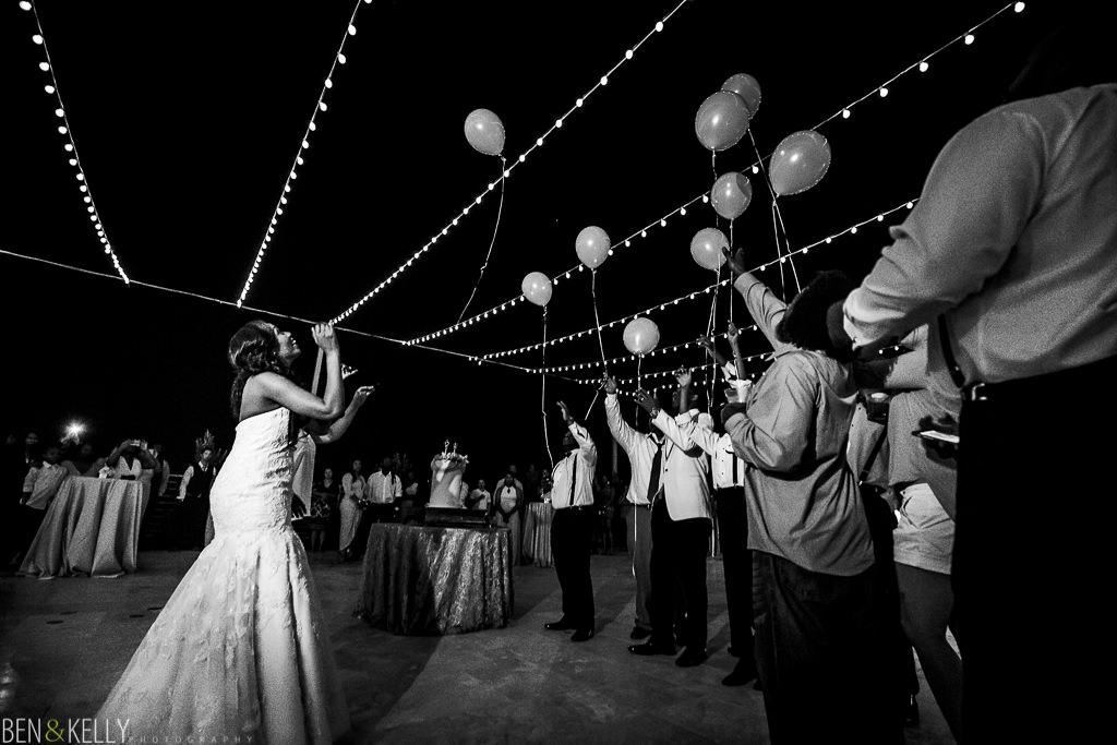 balloon release - chateau luxe - Ben and Kelly Photography