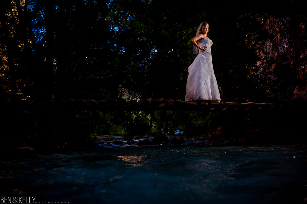 Grand Canyon Bridal Portrait - Ben and Kelly Photography