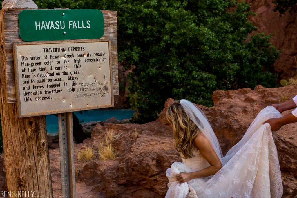 Havasu Falls Trash the Dress - Ben and Kelly Photography