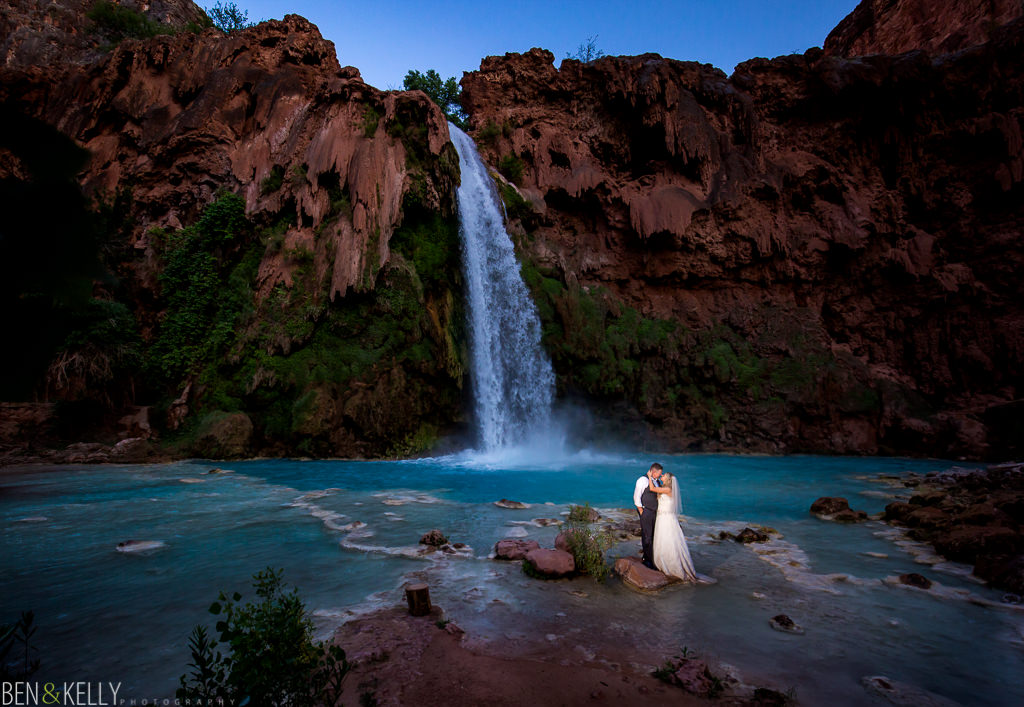 Waterfall Wedding Photography - Ben and Kelly Photography