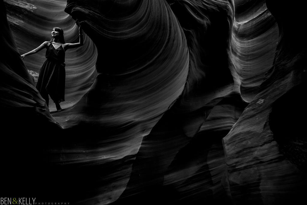 Antelope Canyon walls look like a wave