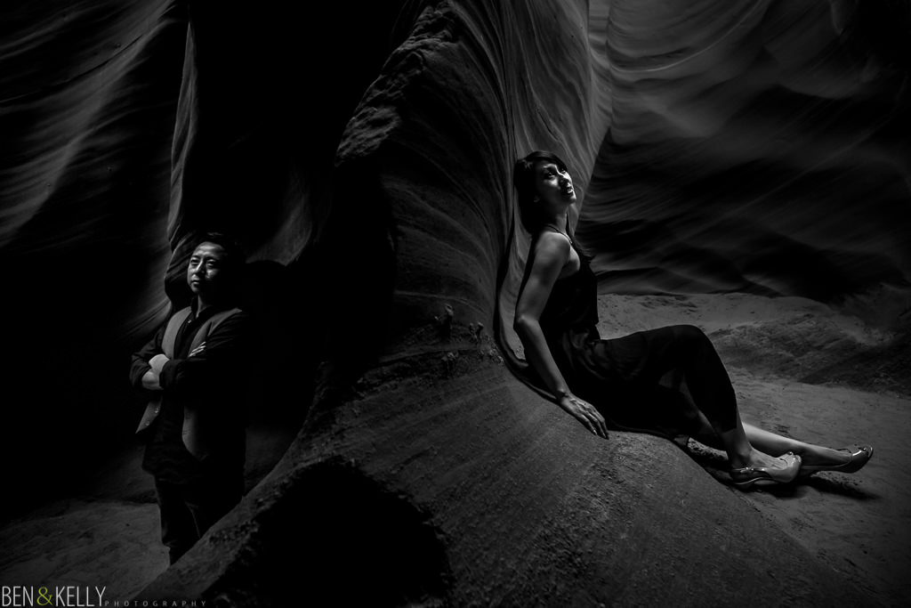 Antelope Canyon Engagement photography by Ben & Kelly