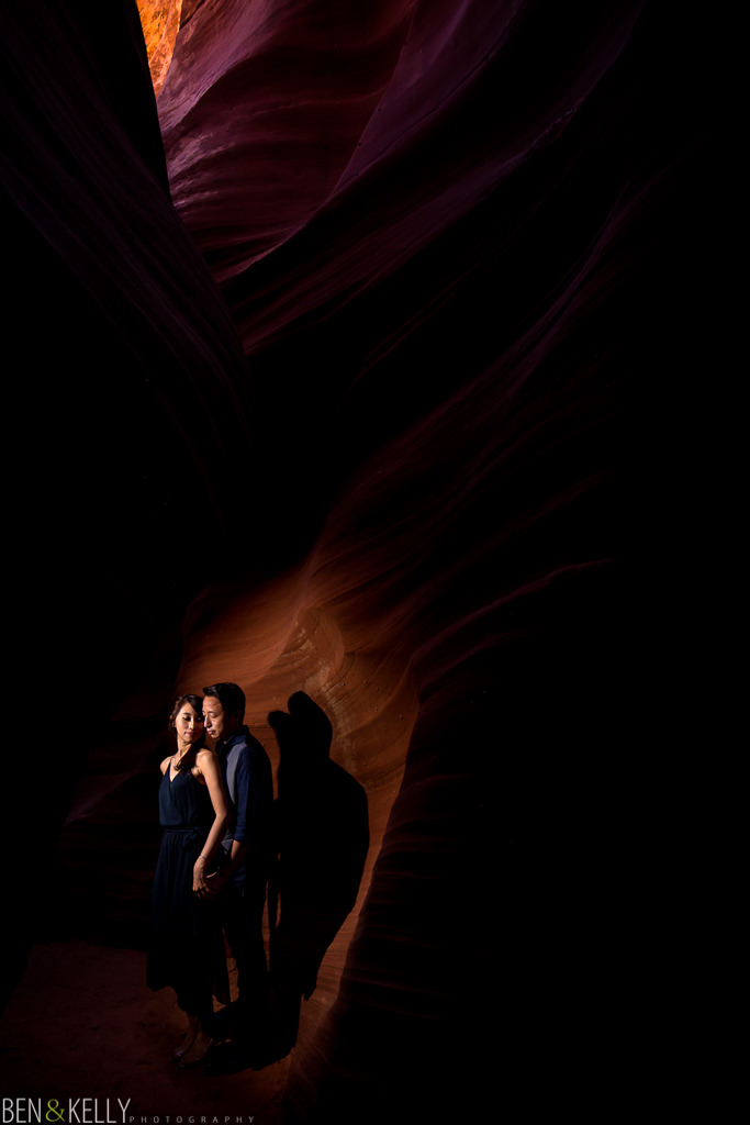 Engagement photo at Antelope Canyon AZ