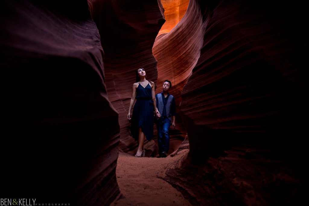Walking through Antelope Canyon